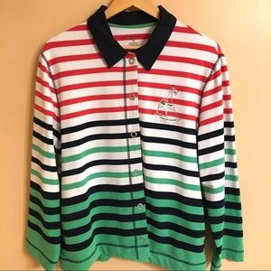 Alfre Dunner 16P sailboat striped top